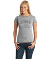 Ladies Distressed Print Tee - Sport Grey